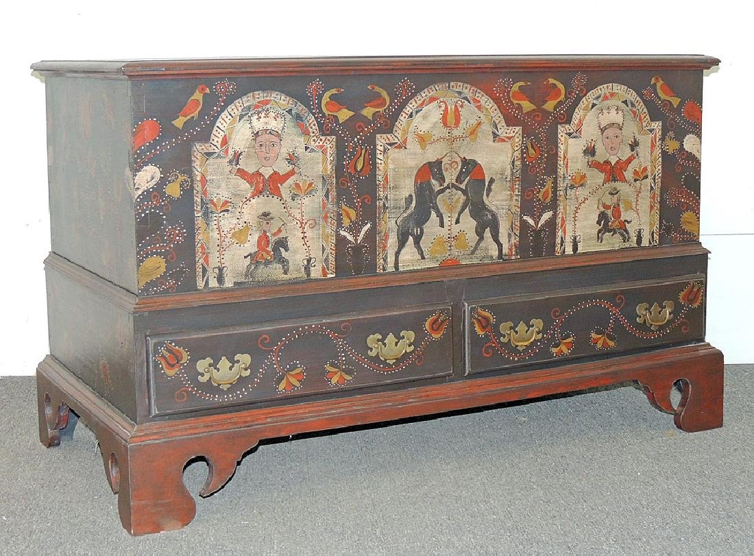 Cabinet-Made Painted Pennsylvania-style Blanket Chest