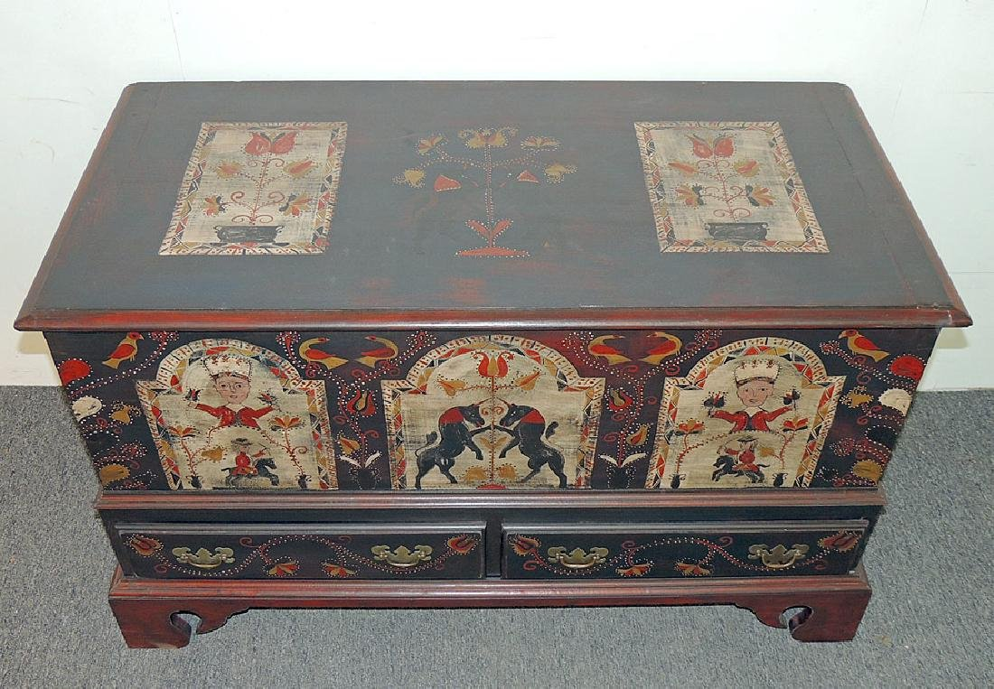 Cabinet-Made Painted Pennsylvania-style Blanket Chest - 2