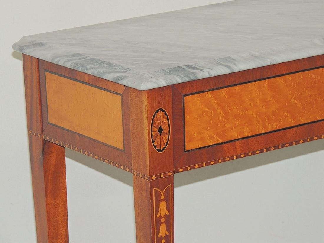 Federal-style Marble-top Console Table - 2