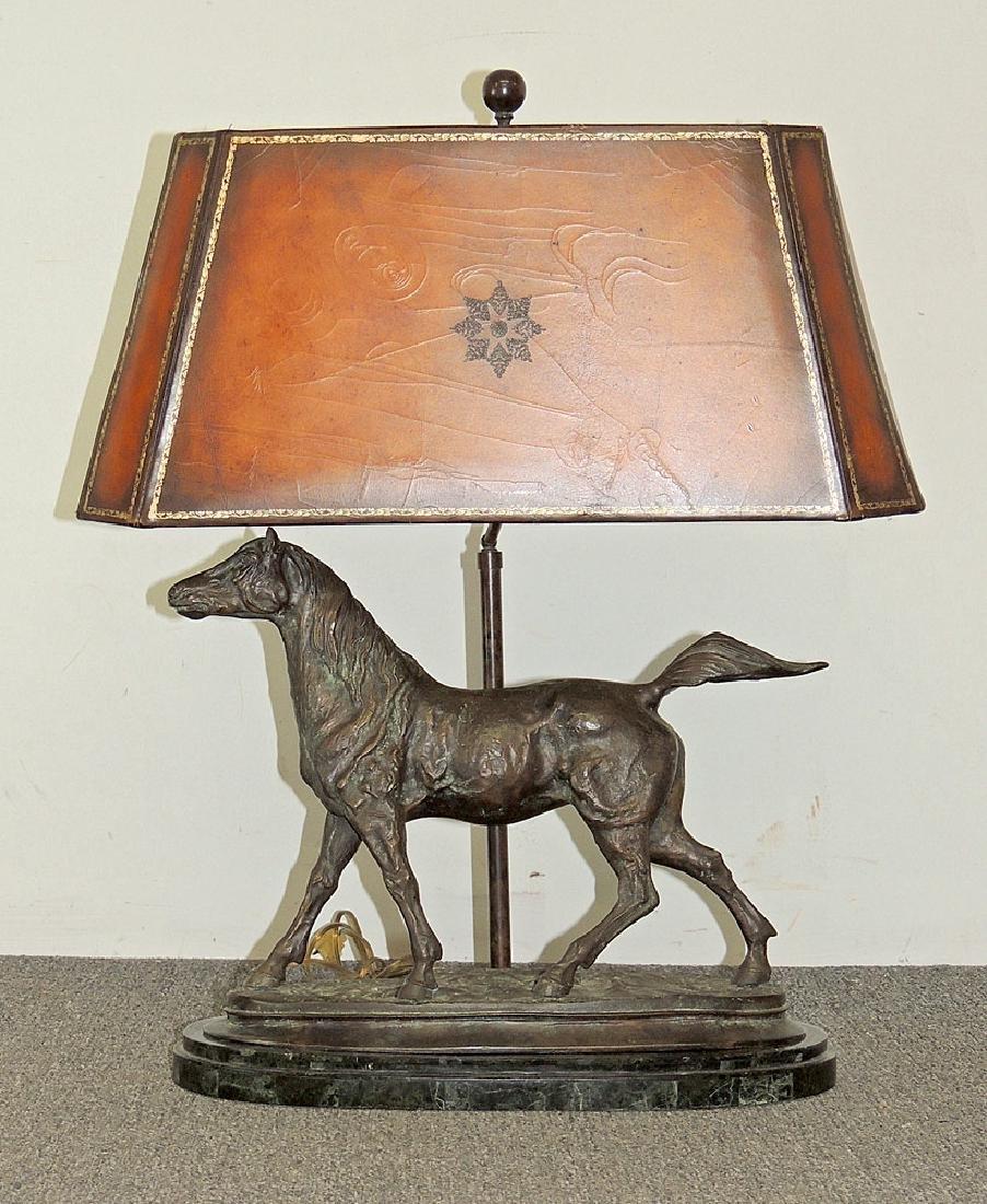 Maitland Smith Bronze Horse Lamp