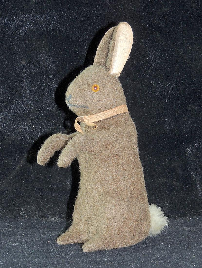 Mohair Covered Rabbit Candy Container