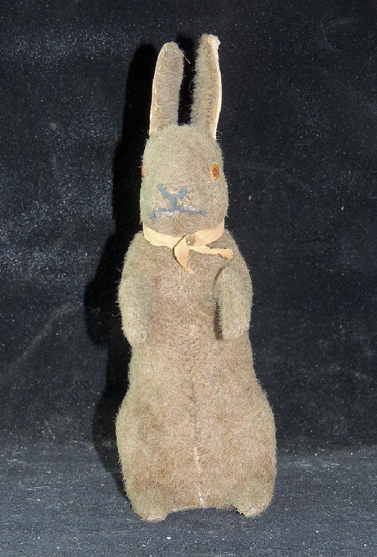 Mohair Covered Rabbit Candy Container - 2