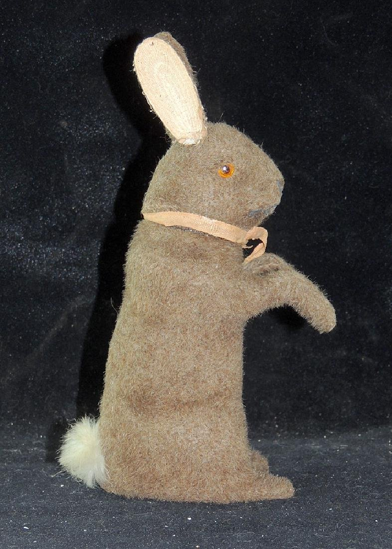 Mohair Covered Rabbit Candy Container - 3