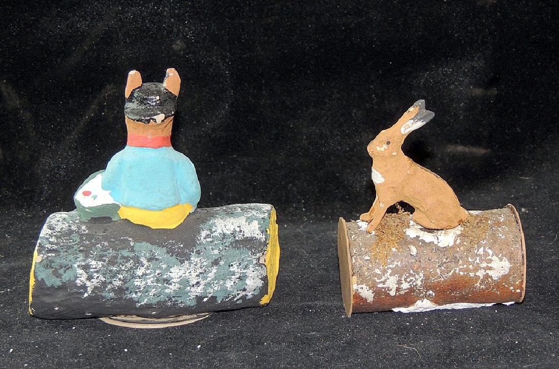 Two Candy Containers: Rabbits on Logs - 2