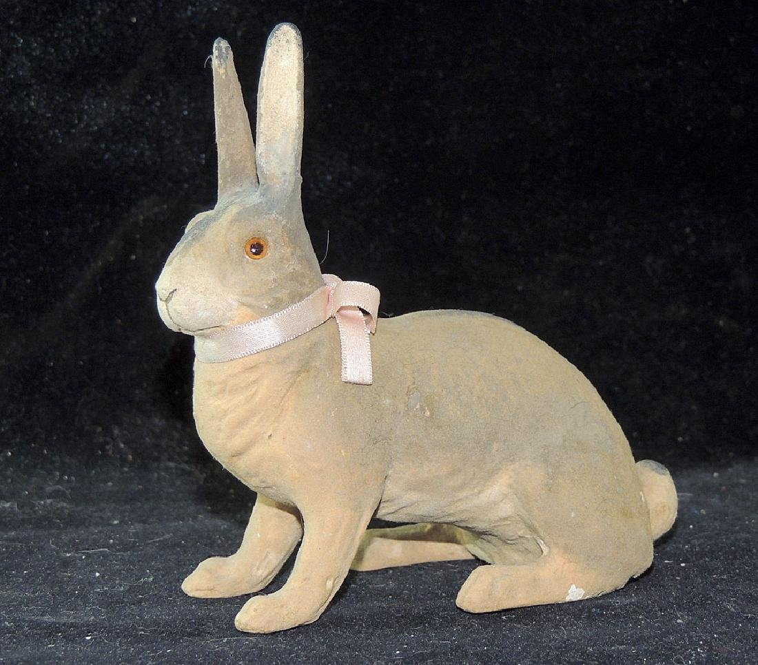 Composition Rabbit Candy Container
