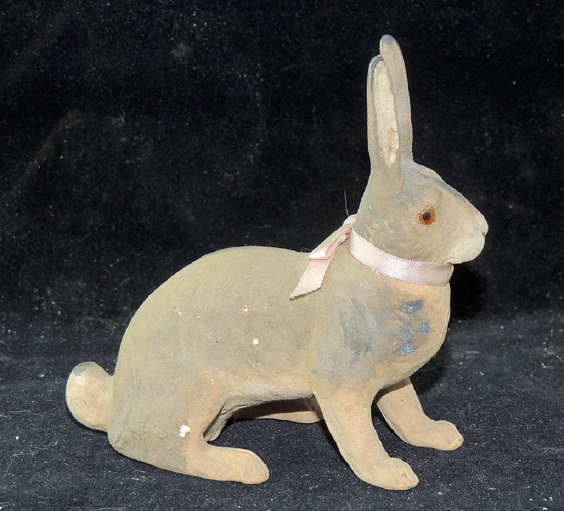 Composition Rabbit Candy Container - 2