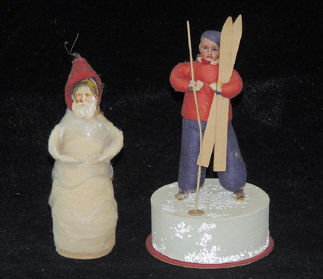 Two Spun-Cotton Figures