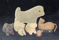 Six Early Stuffed Animals