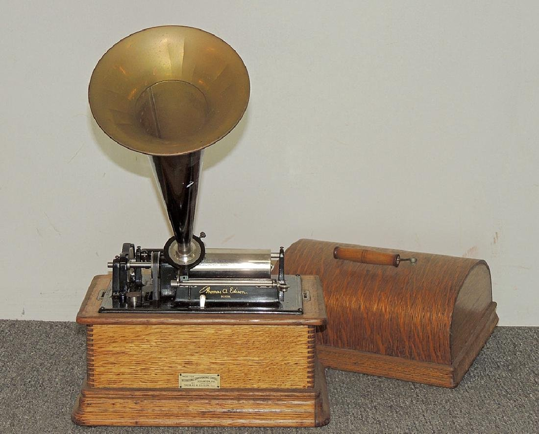 Oak Edison Standard Phonograph