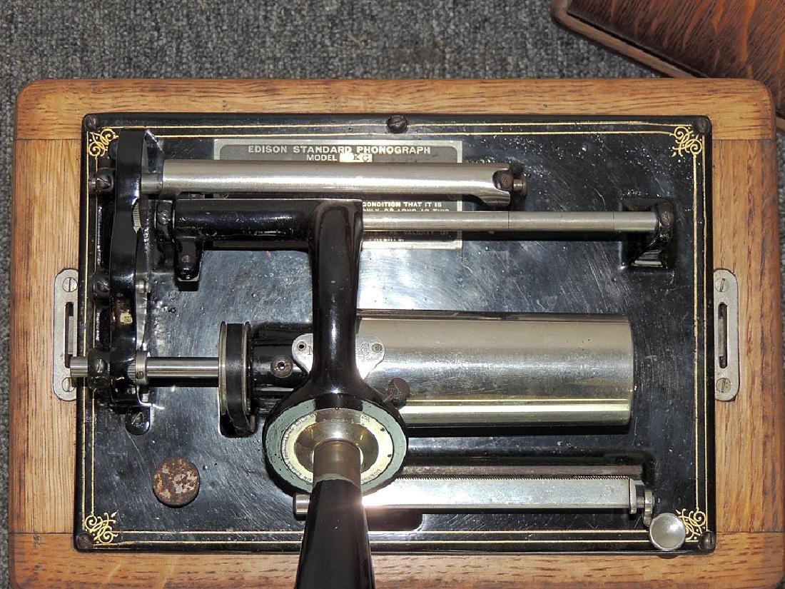 Oak Edison Standard Phonograph - 2
