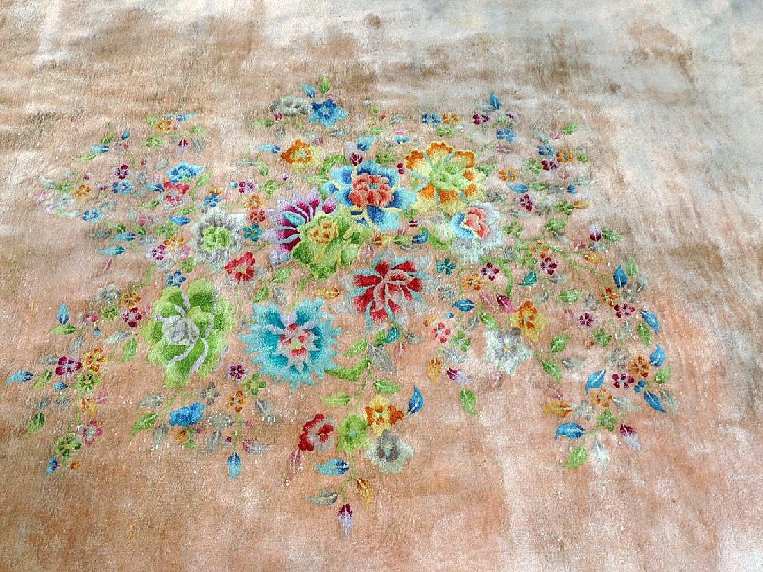 Floral Chinese Art Deco Room-size Carpet - 2