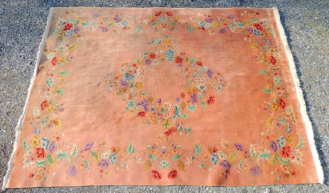 Rose/Floral Chinese Art Deco Room-size Carpet
