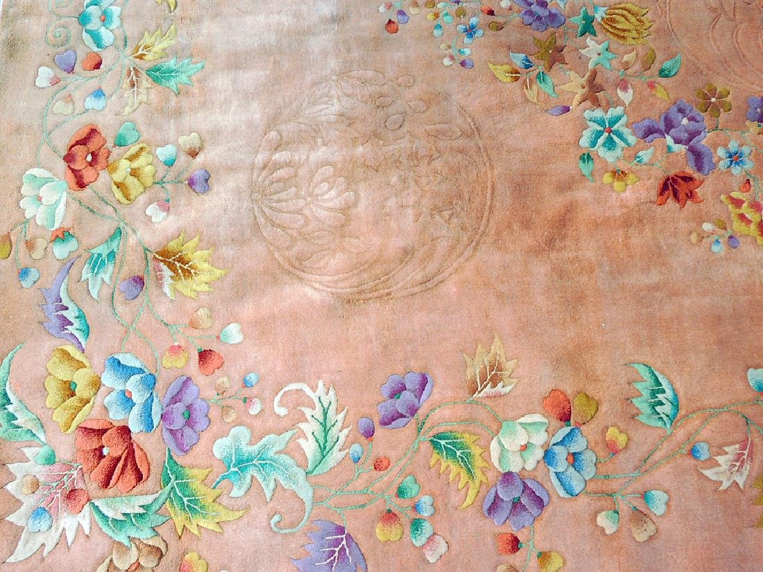 Rose/Floral Chinese Art Deco Room-size Carpet - 2