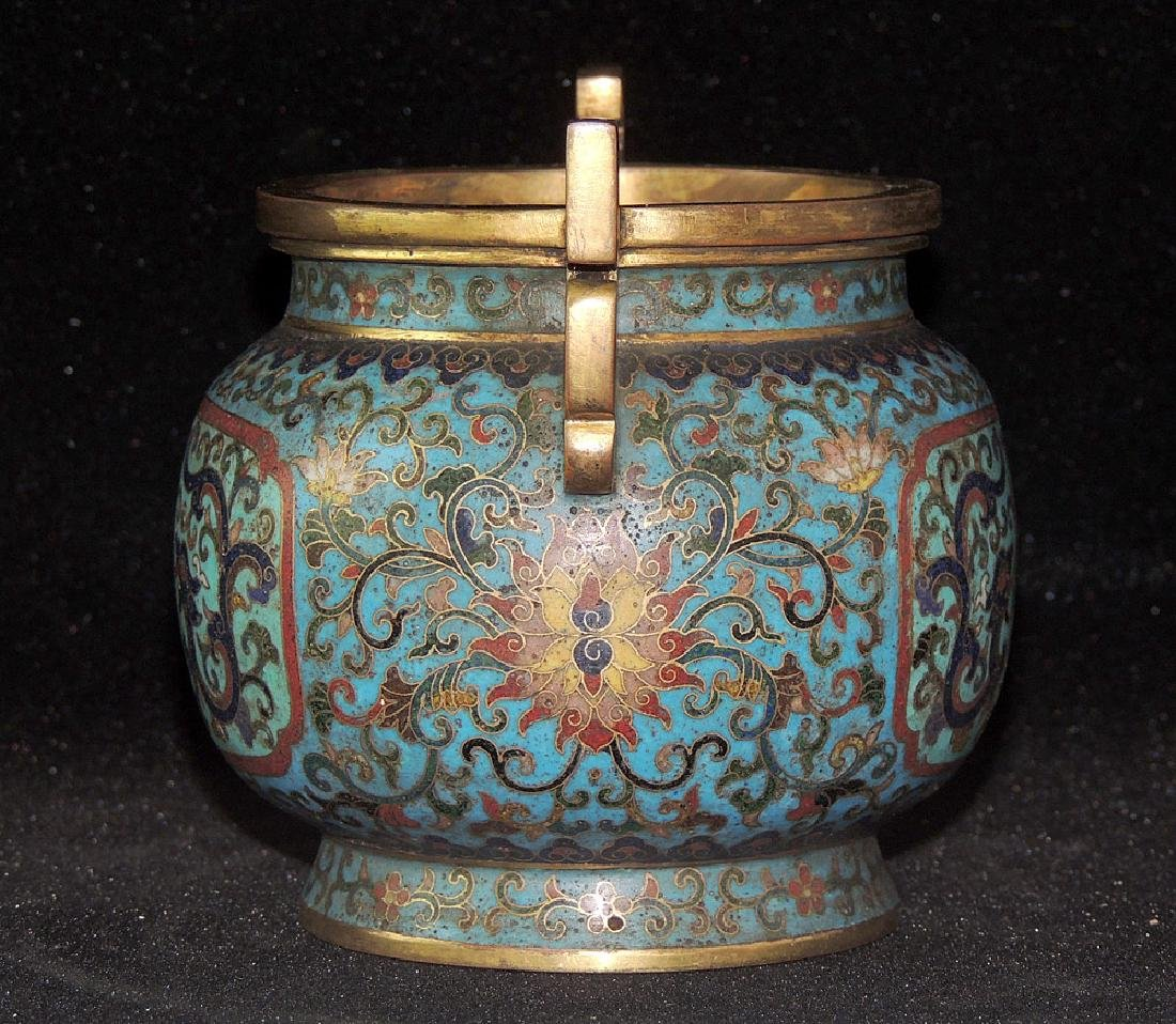 Chinese Cloisonné and Bronze Censer - 2