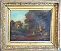 Attrib. George Morland Oil/Canvas, Landscape