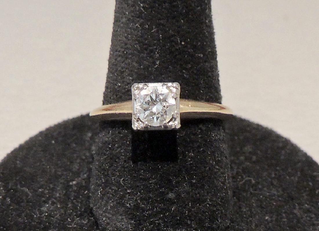 Diamond Engagement Ring in 14K Yellow Gold