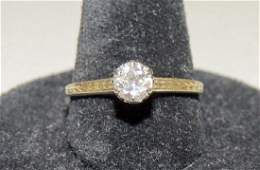 Diamond Engagement Ring in 14K Yellow Gold