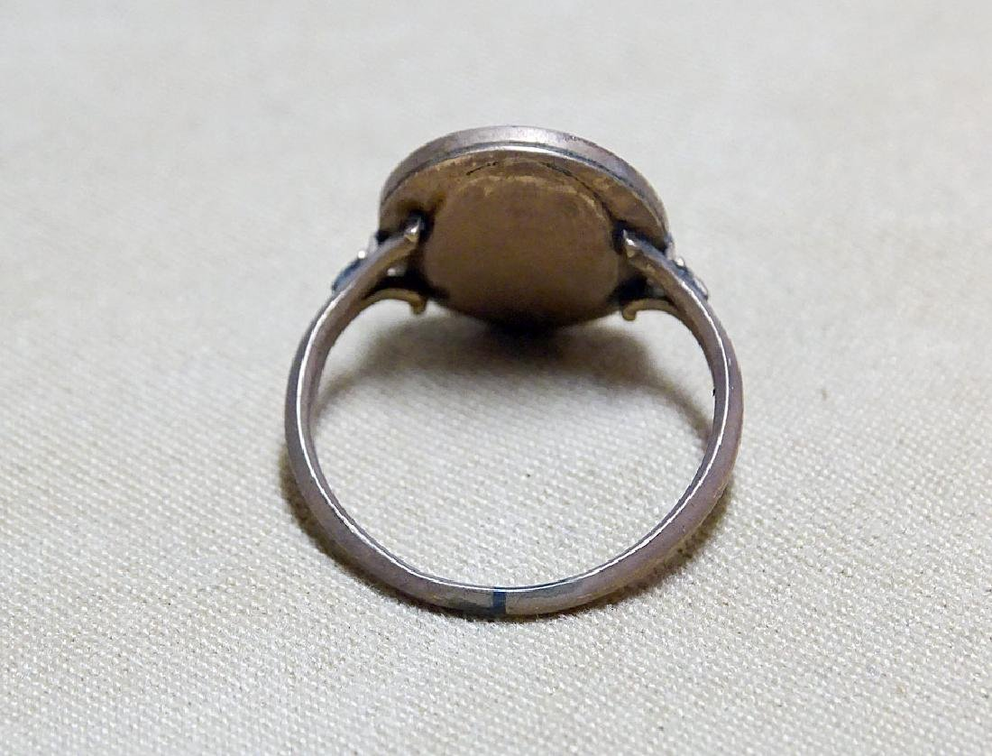 Gold-filled Mourning Ring. - 2