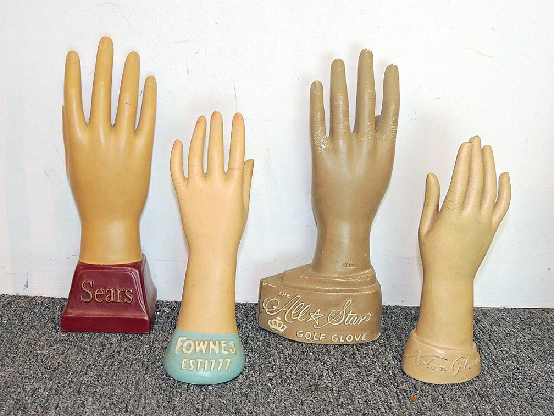Collection of 18 Wood and Composite Glove Forms - 2