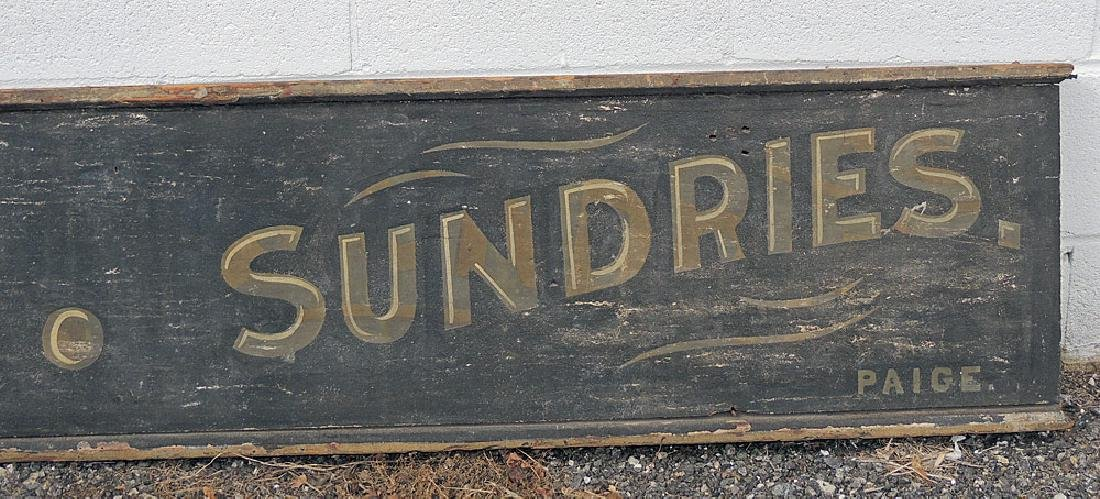 19th C. Painted Wood Trade Sign - 4