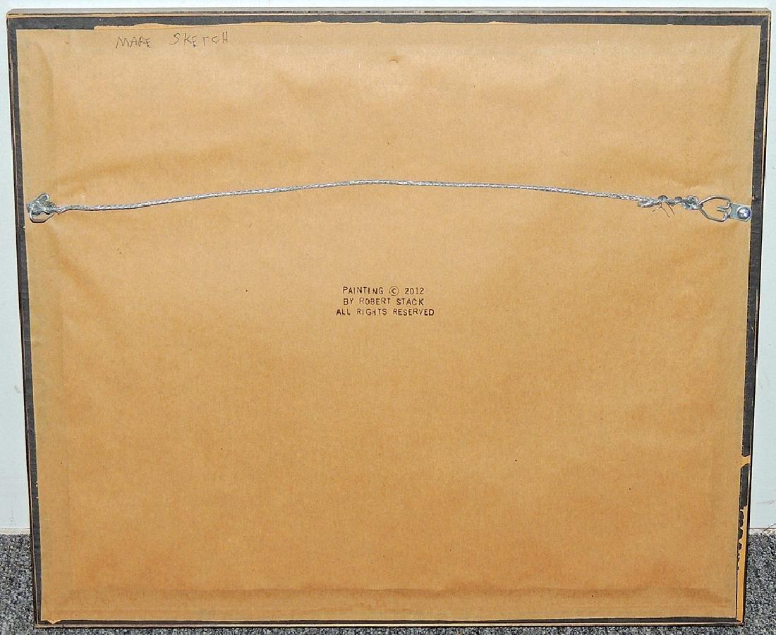 Robert Stack Gouache, Mare Sketch - 3