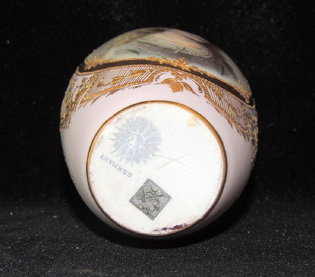German Porcelain Portrait Vase - 2