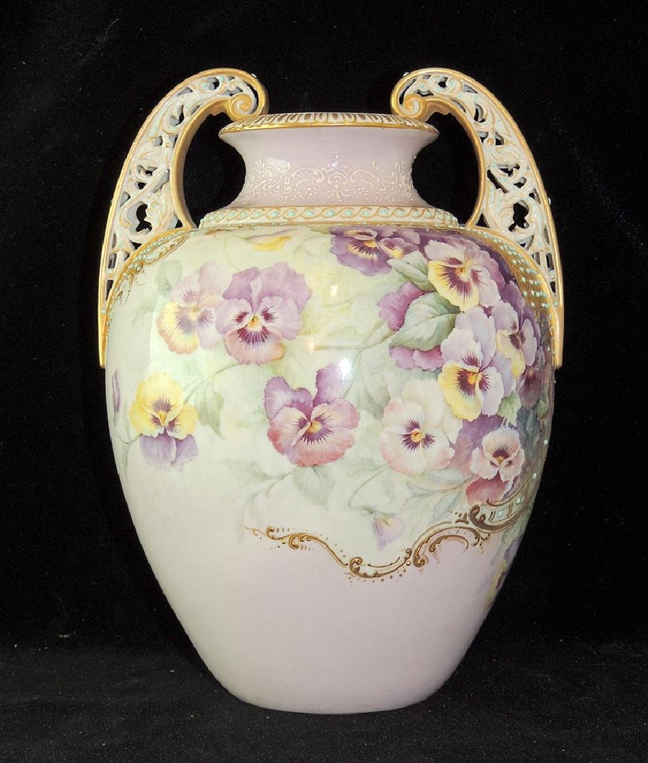 Reticulated Porcelain Floral Vase