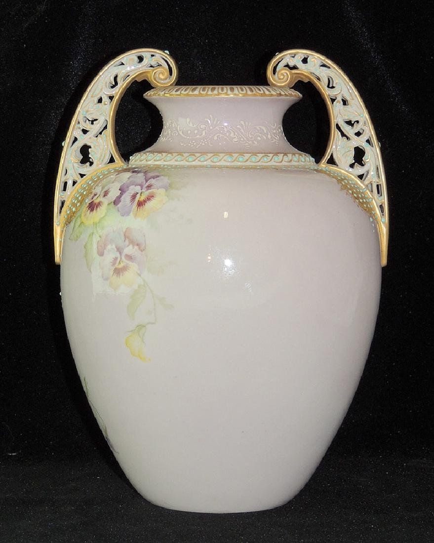 Reticulated Porcelain Floral Vase - 2