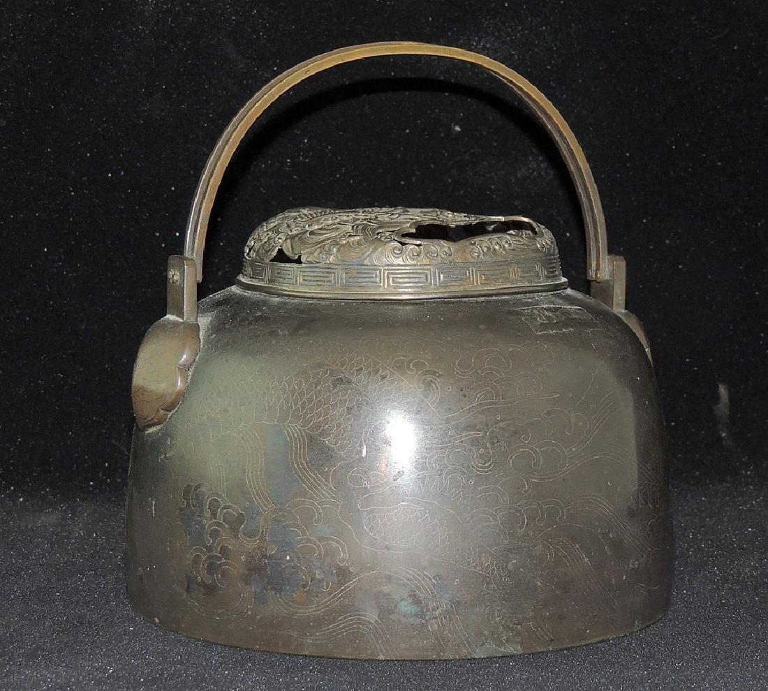 Chinese Bronze Handwarmer