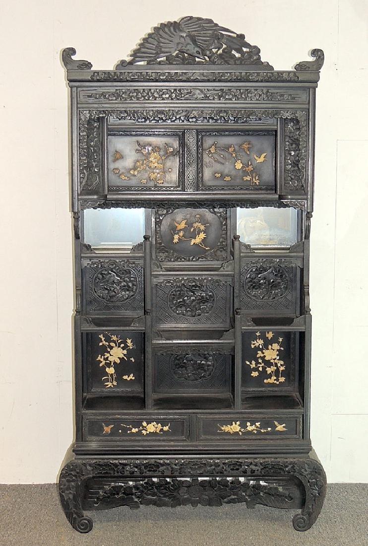 Asian Carved Etagére