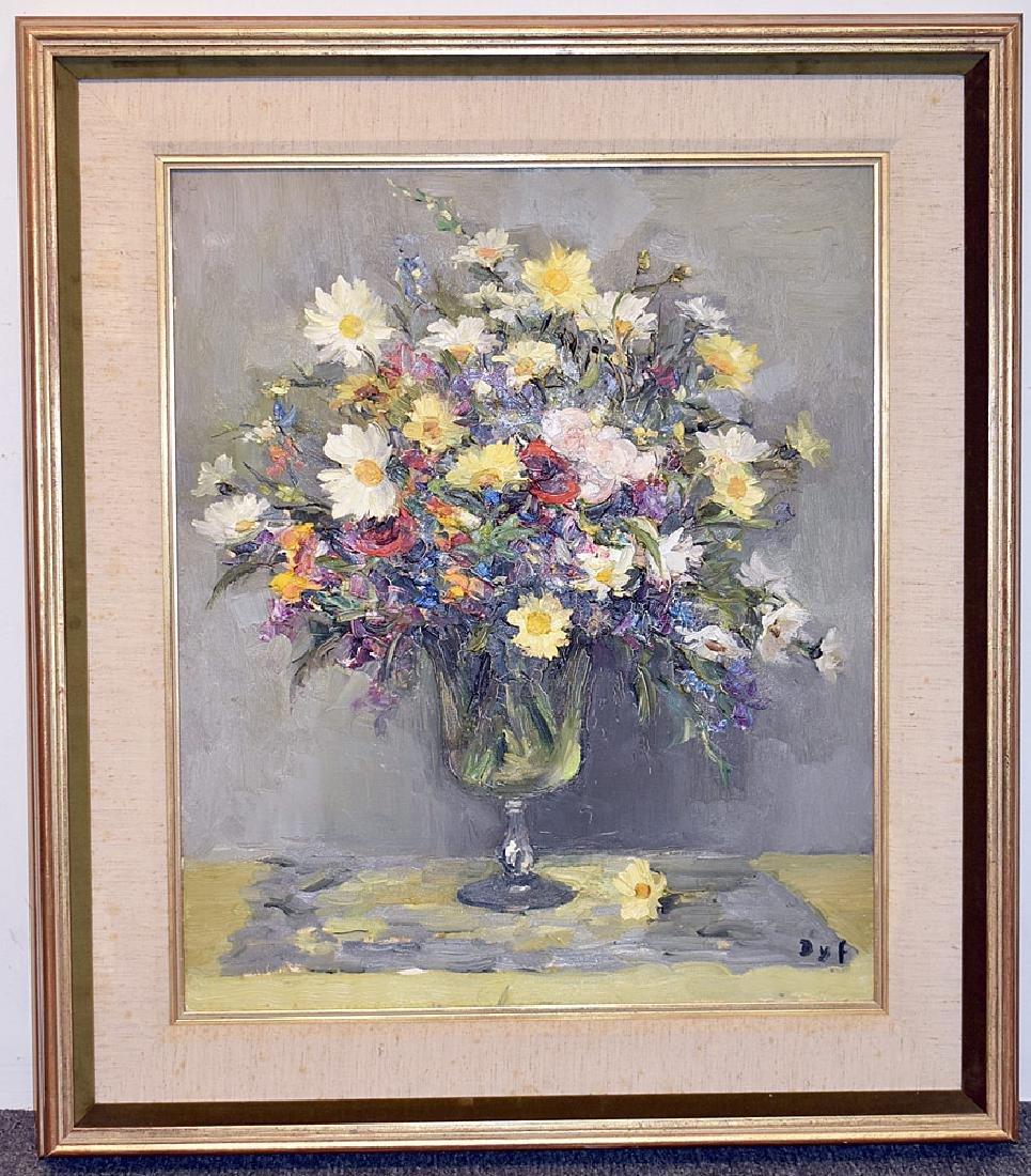 Marcel Dyf Oil on Cavnas, Floral Still Life
