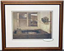 Andrew Wyeth Pencilsigned Print Spring Fed