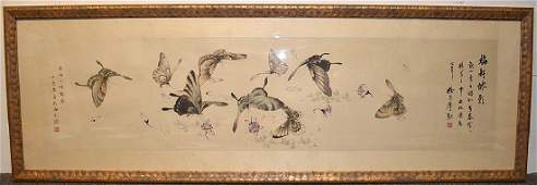 Chinese Watercolor Painting of Butterflies