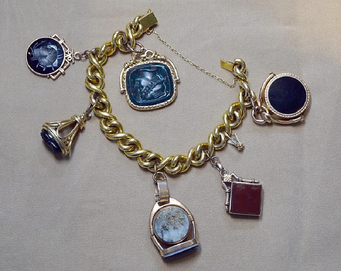 Early 18K Charm Bracelet