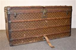 Early 20th C Louis Vuitton Steamer Trunk