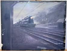 Tony Fachet Oil on Board Train at Night