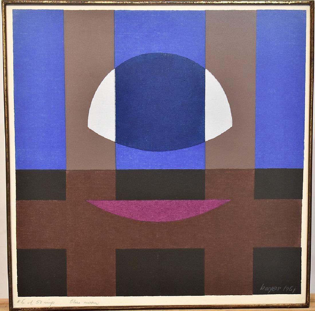 Herbert Bayer Lithograph, Blue Moon