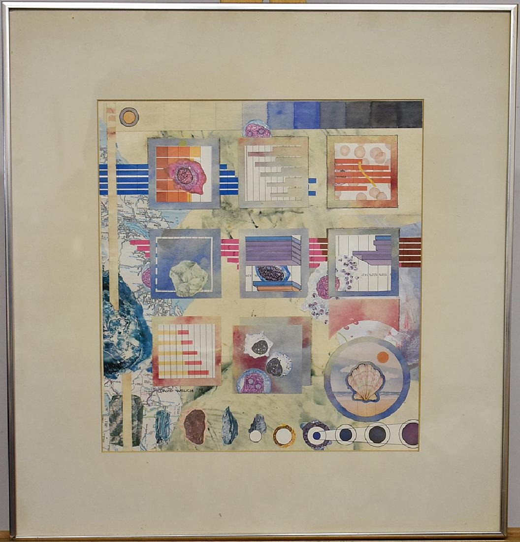 David Welch Colorful Mixed-Media Collage