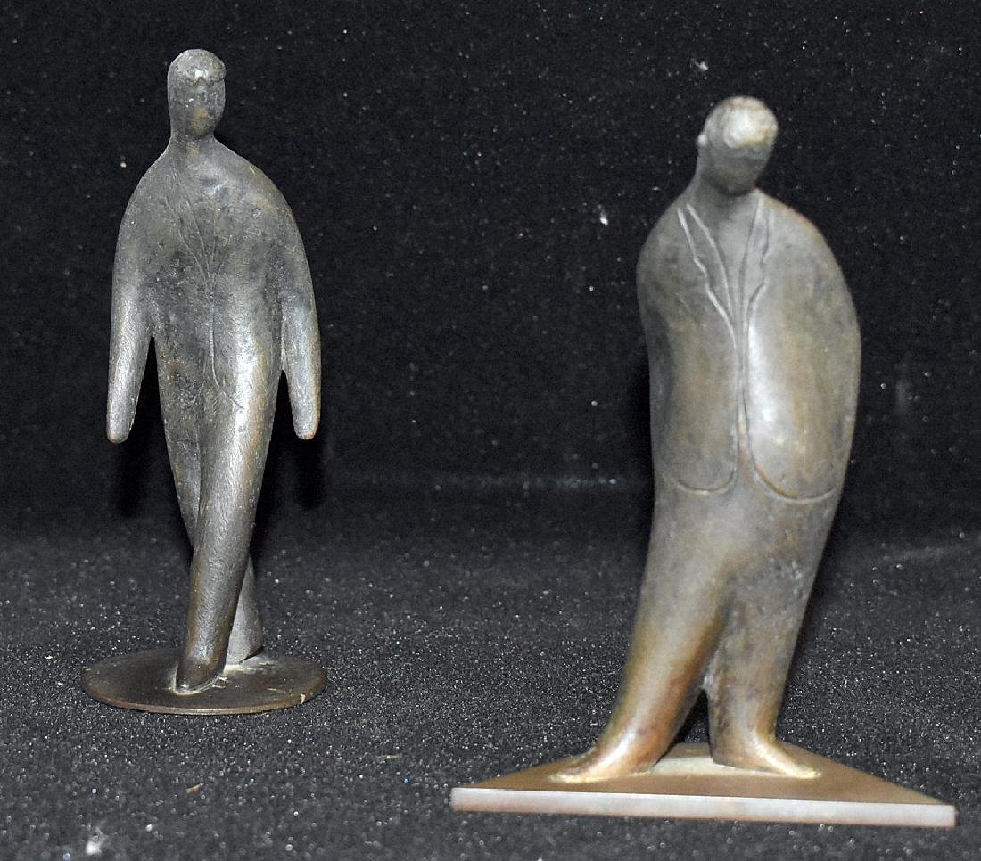 Two Carl Aubock Bronze Figures