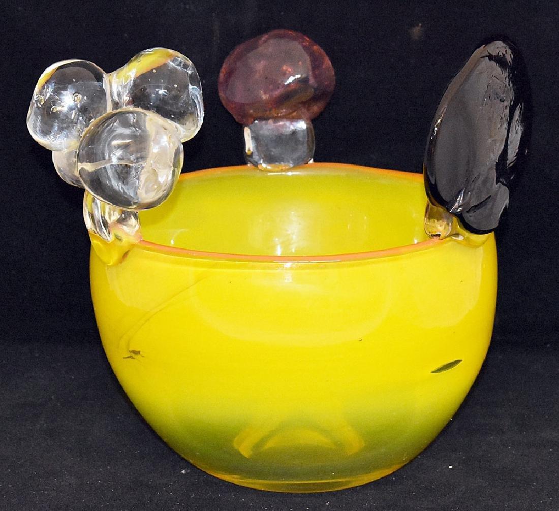 Oiva Toikka Art Glass Bowl - 2