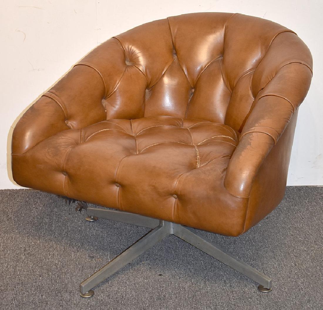 Ward Bennett Swivel Lounge Chair