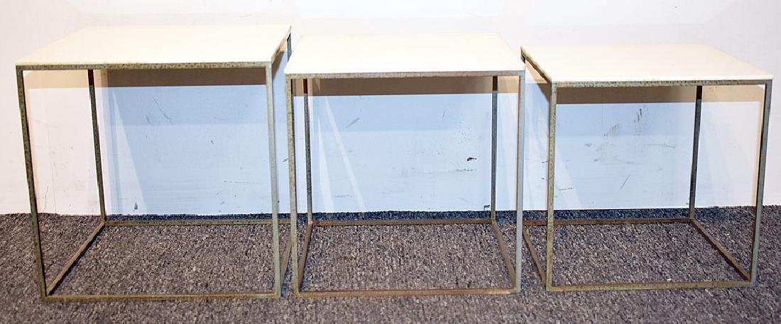 Nest of Three Poul Kjaerholm PK71 Tables - 2