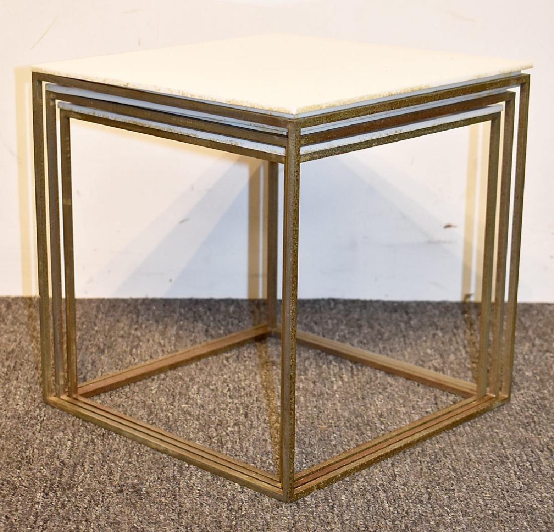 Nest of Three Poul Kjaerholm PK71 Tables - 3