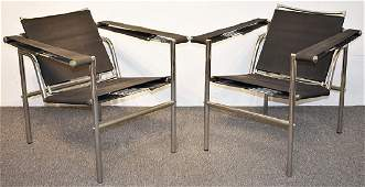Pair of Le Corbusier LC1 Chairs