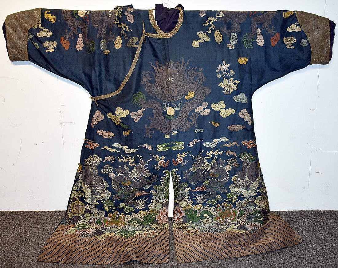 Japanese Embroidered Silk Kimono