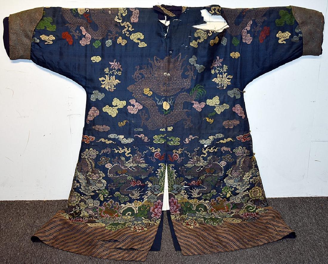 Japanese Embroidered Silk Kimono - 2