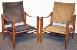 Two Kaare Klint Safari Chairs