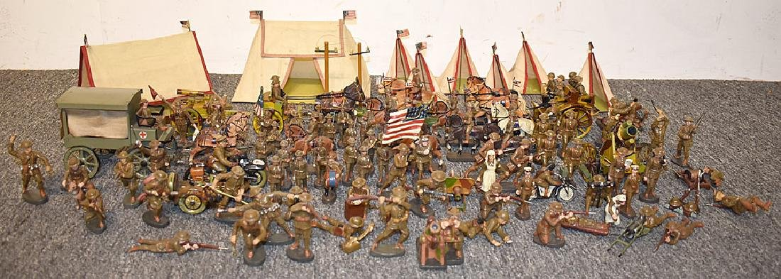 94-pieces of Elastolin & Houser Toy Army