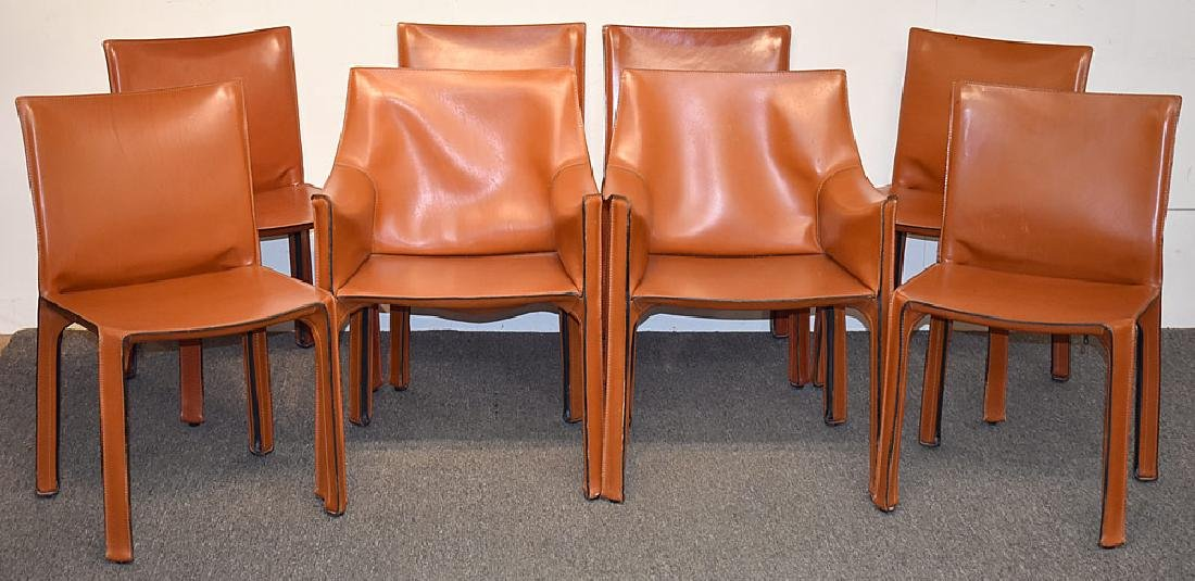 Eight Mario Bellini/Cassina Cab Dining Chairs