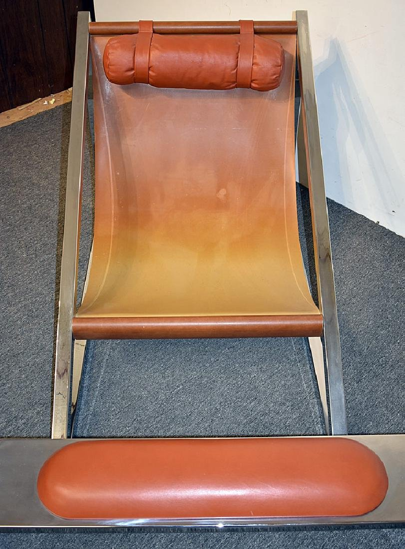 Archizoom Assoc. Mies Chair and Ottoman - 2